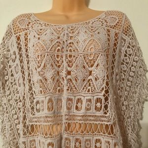 White Embroidery Fringed Top